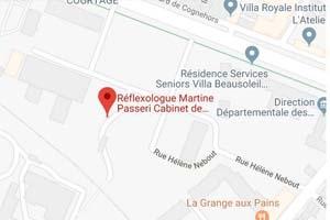 Plan accès Cabinet Réflexologie Martine Passeri